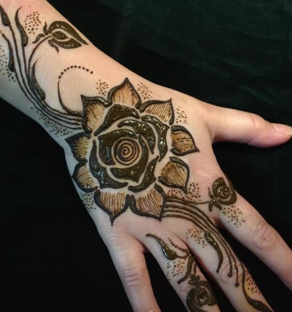 Clear Floral Mehndi Design Floral Eid Mehndi Designs Eid Mehndi