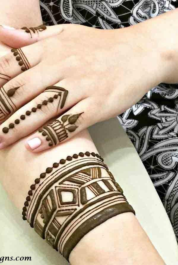 Finger Mehndi Designs For Back Hand , Finger Eid Mehndi