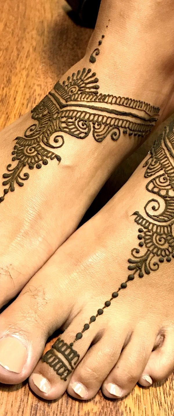 Flower Foot Mehndi Design Foot Eid Mehndi Designs Eid Mehndi
