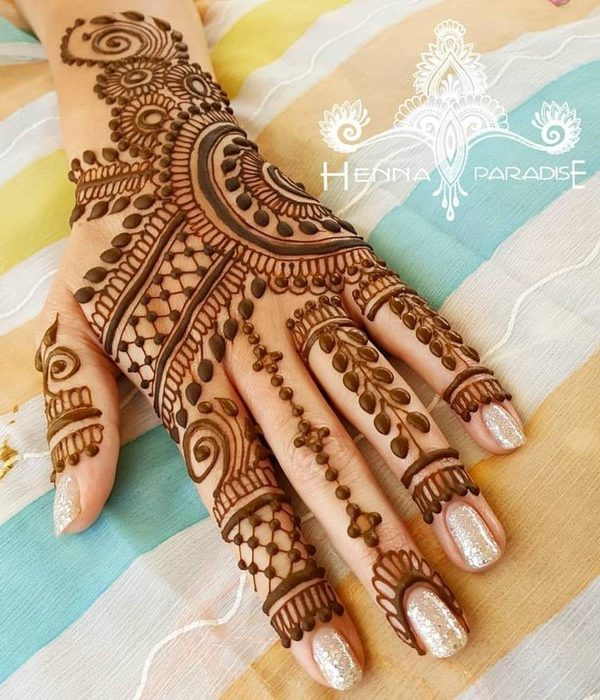 Traditional Mehndi Designs For Back Hand Special Eid Mehndi