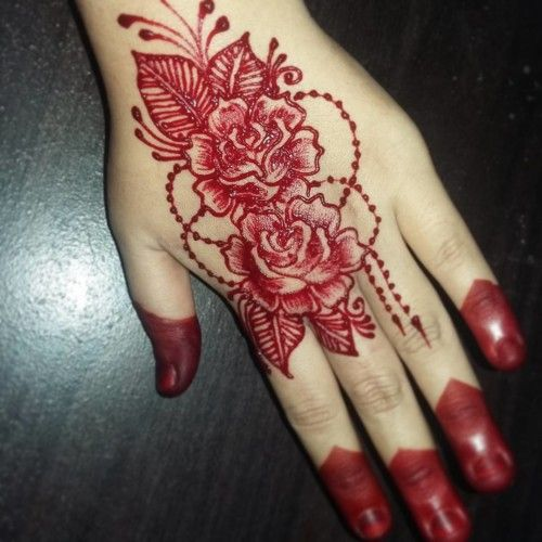 17 Best Rose Eid Mehndi Designs Pictures Crayon