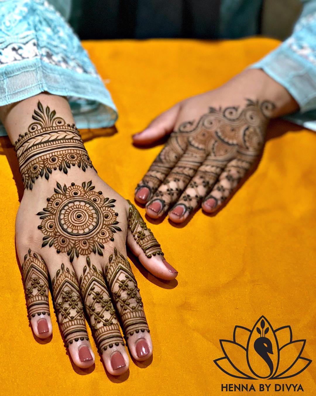 Back Hand Bridal Mehndi Designs for Models - Back Hand ...