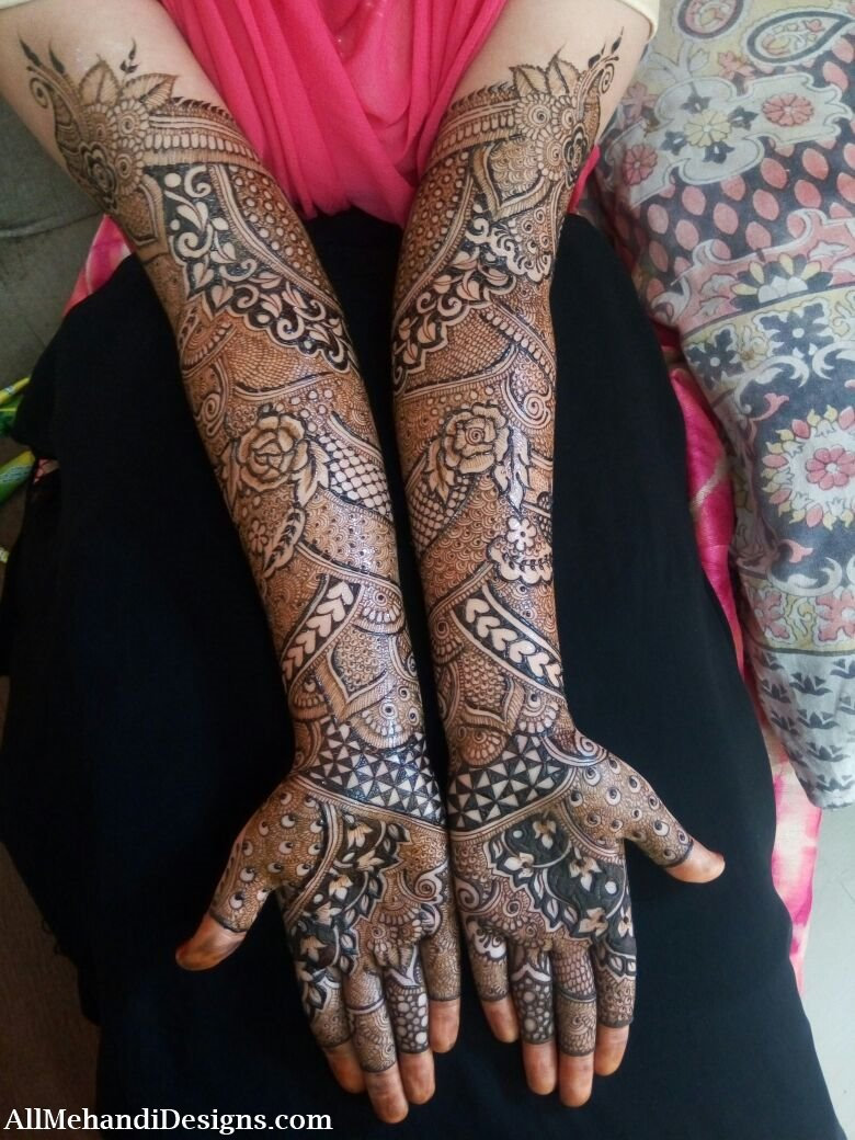 Pushed Pakistani Bridal Mehndi Designs - Pakistani Bridal ...