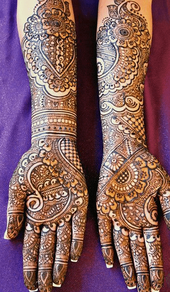 Structured Pakistani Bridal Mehndi Designs - Pakistani ...