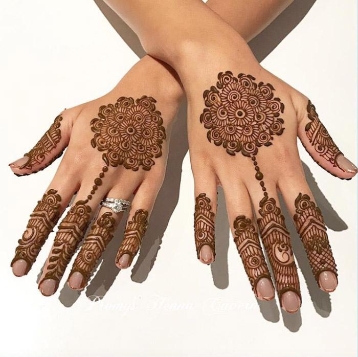 Stunning Bridal Henna Designs By Ash: Stunning Simple Bridal Mehndi Designs