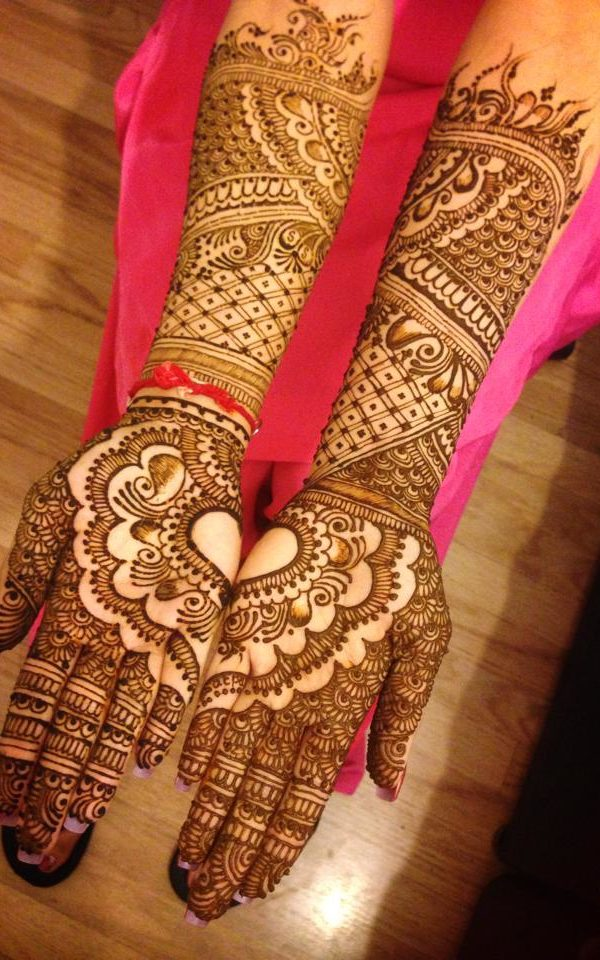 bridal mehndi designs front hand