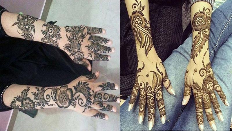 astonishing gulf bridal mehndi designs   gulf bridal