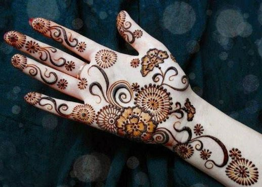 Tangling Front Hand Arabic Mehndi Designs , Front Hand
