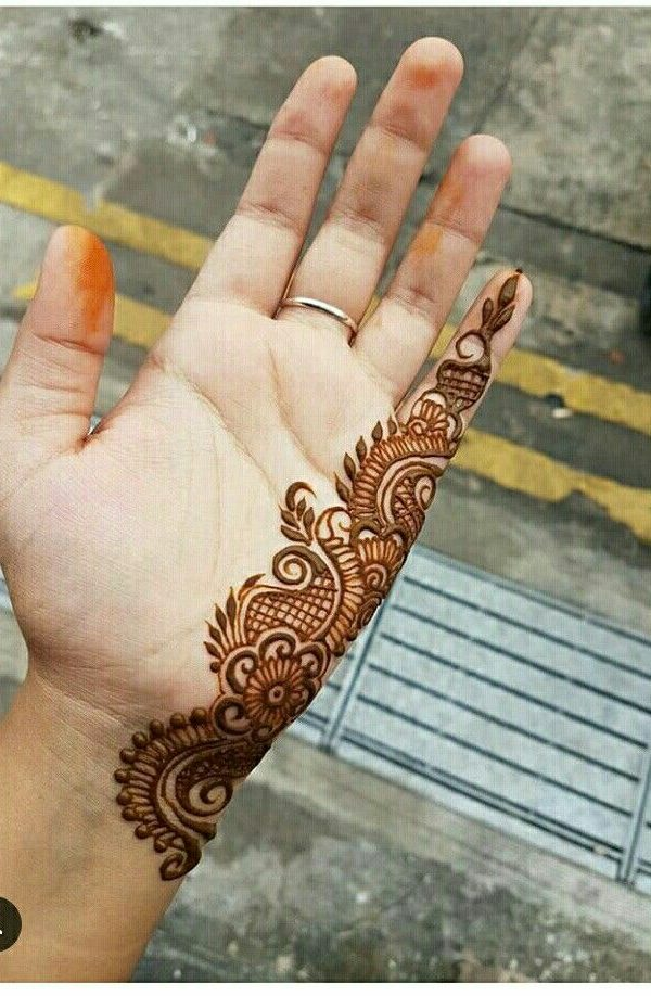 front hand mehndi design arabic style