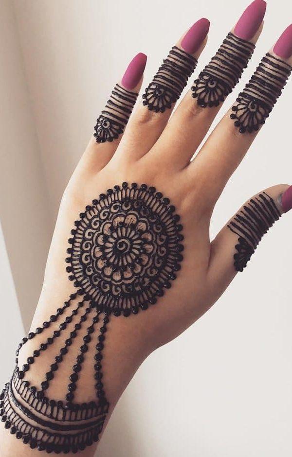 mehandi design simple arabic back hand