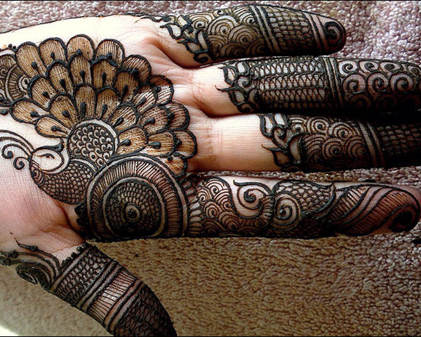 Phenominal Palm Arabic Mehndi Designs for front hand and