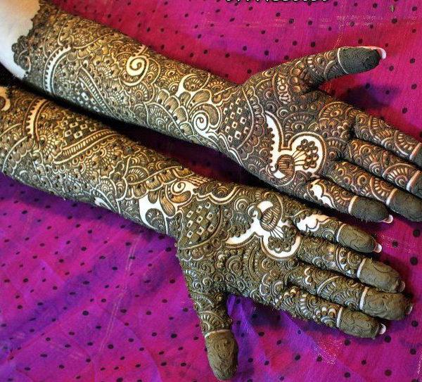 bridal arabic mehendi design