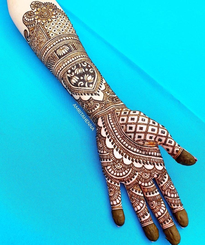 Standard Full Hand Arabic Mehndi Designs - Full Hand ...