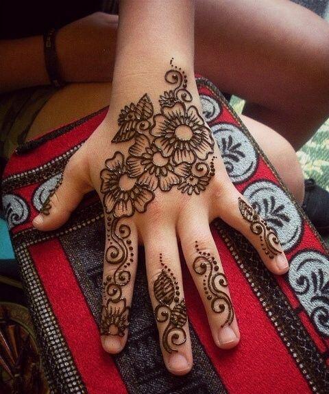 Admirable Kids Arabic Mehndi Designs for backhand till palm