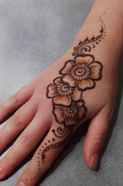 simple and easy arabic mehndi design back hand