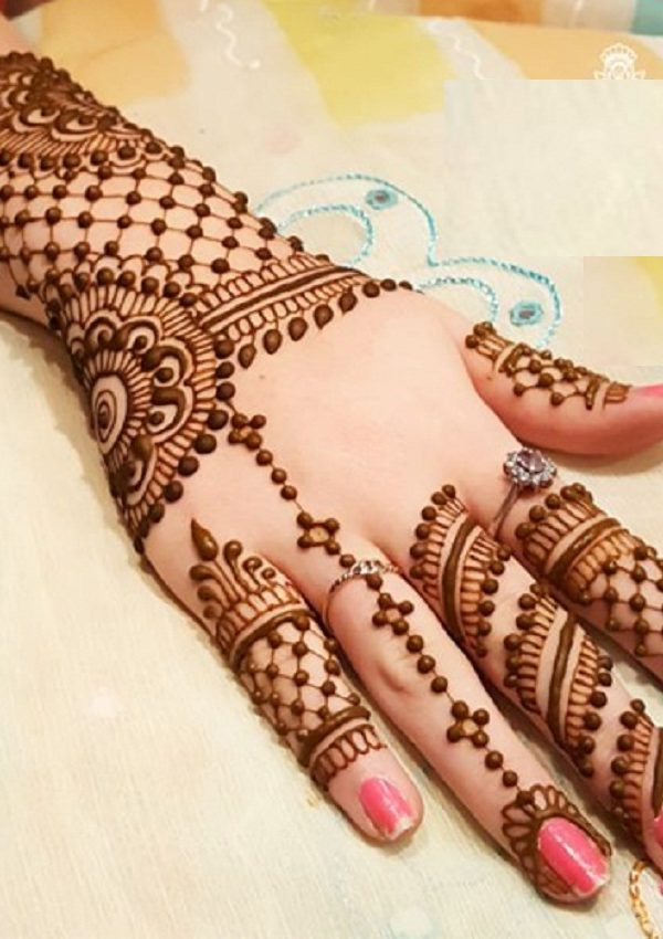 new bail mehndi design